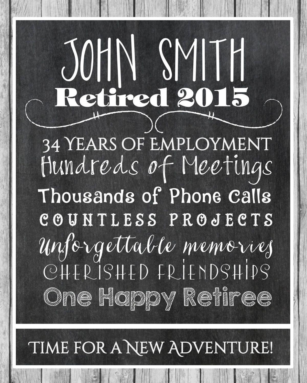 Retirement Print, Retirement Gift, Retiree Gift