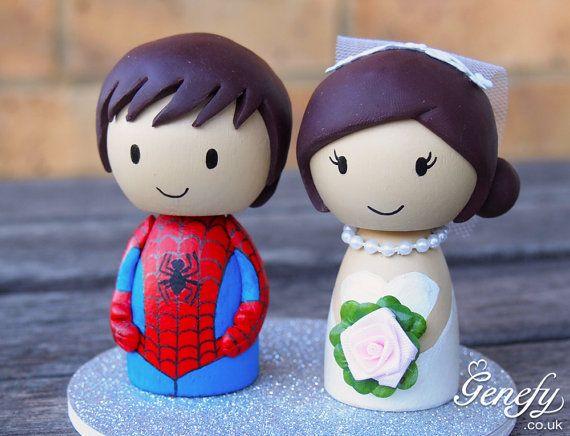 Cute Spiderman Superhero Wedding Cake Topper By Genefyplayground 88 00