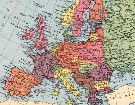 antique EUROPE map 1930s European map pre WW2 by theStoryOfVintage ...