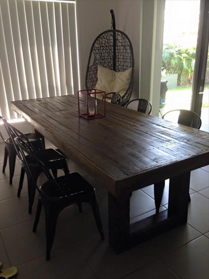 DIY Custom Built Pallet Dining Table
