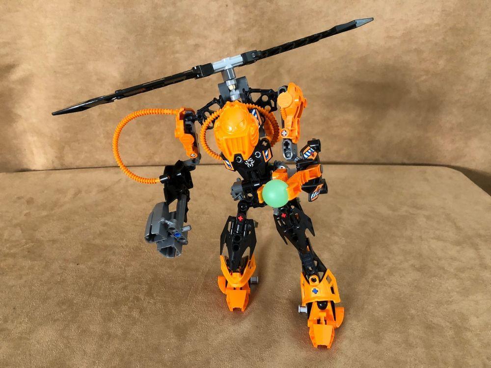 7162 Lego Complete Hero Factory Rotor Action Figure Orange
