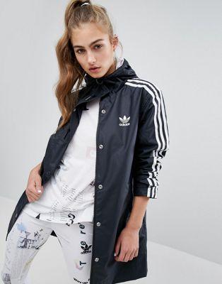 Adidas Originals Three Stripe Hooded Rain Jacket Adidas