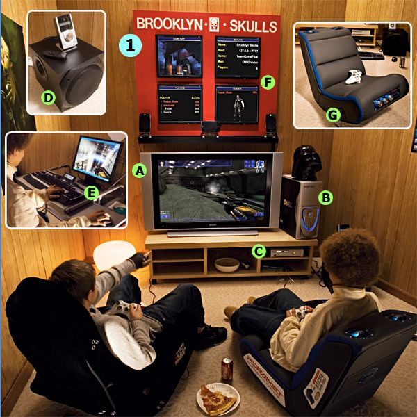 Best 25 video game rooms ideas on pinterest man cave Cool gaming room designs