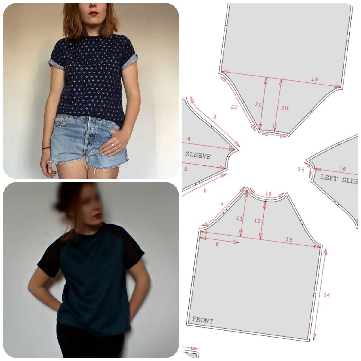 Patronnage T-Shirt manches raglan
