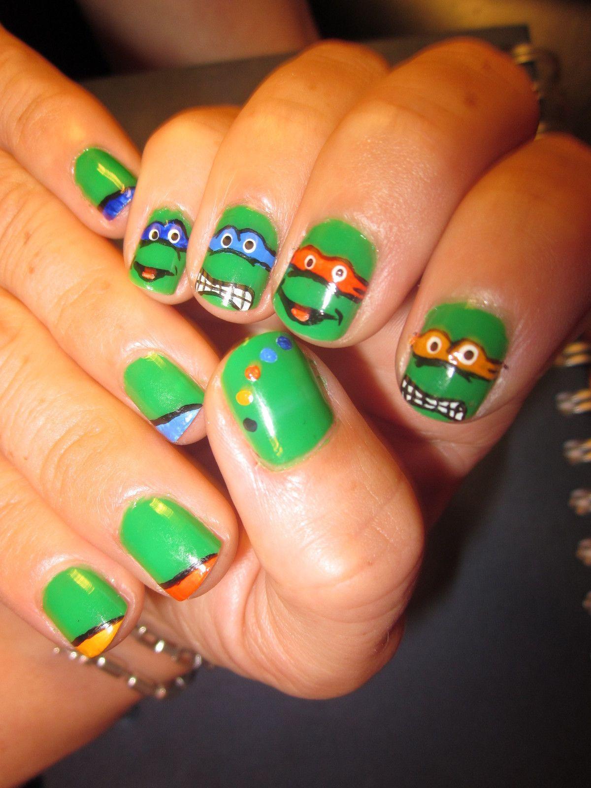 Ninja Turtles Nails   Ninja turtle nails, Turtle nails and Ninja turtles