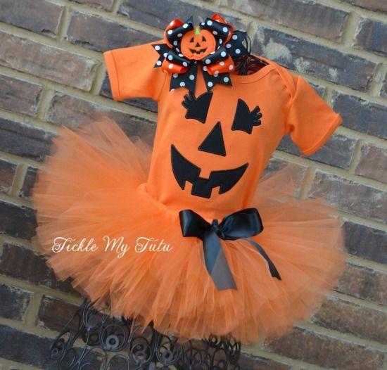 Little Pumpkin Halloween Tutu Costumewwwticklemytutu N - halloween tutu ideas