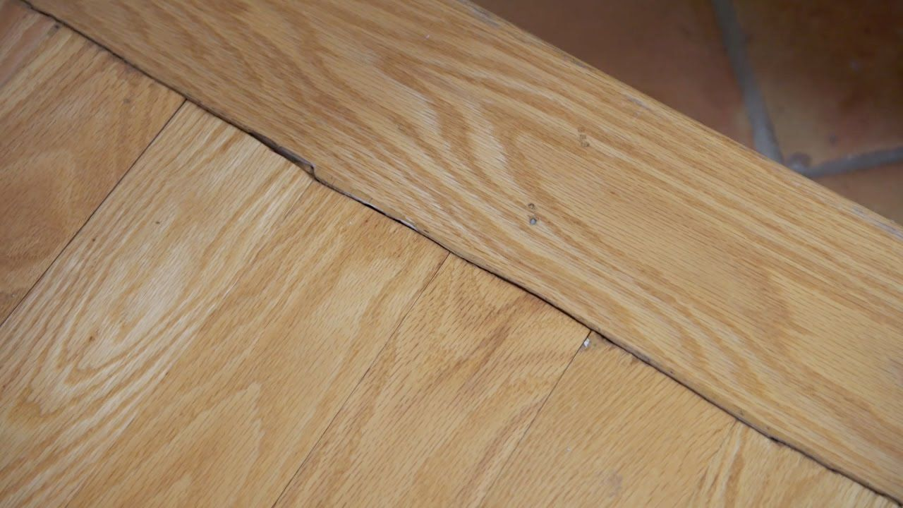 How To Repair A Bad Flooring Joint Home Improvement Projects Repair Construction Adhesive