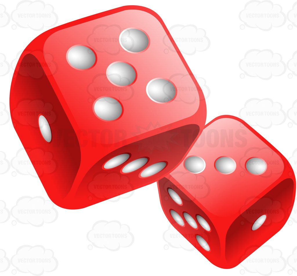 Two Glossy Rounded Red Dice Stock Cartoon Graphics Vector Toons Poker Tattoo Vegas Tattoo Dice Tattoo