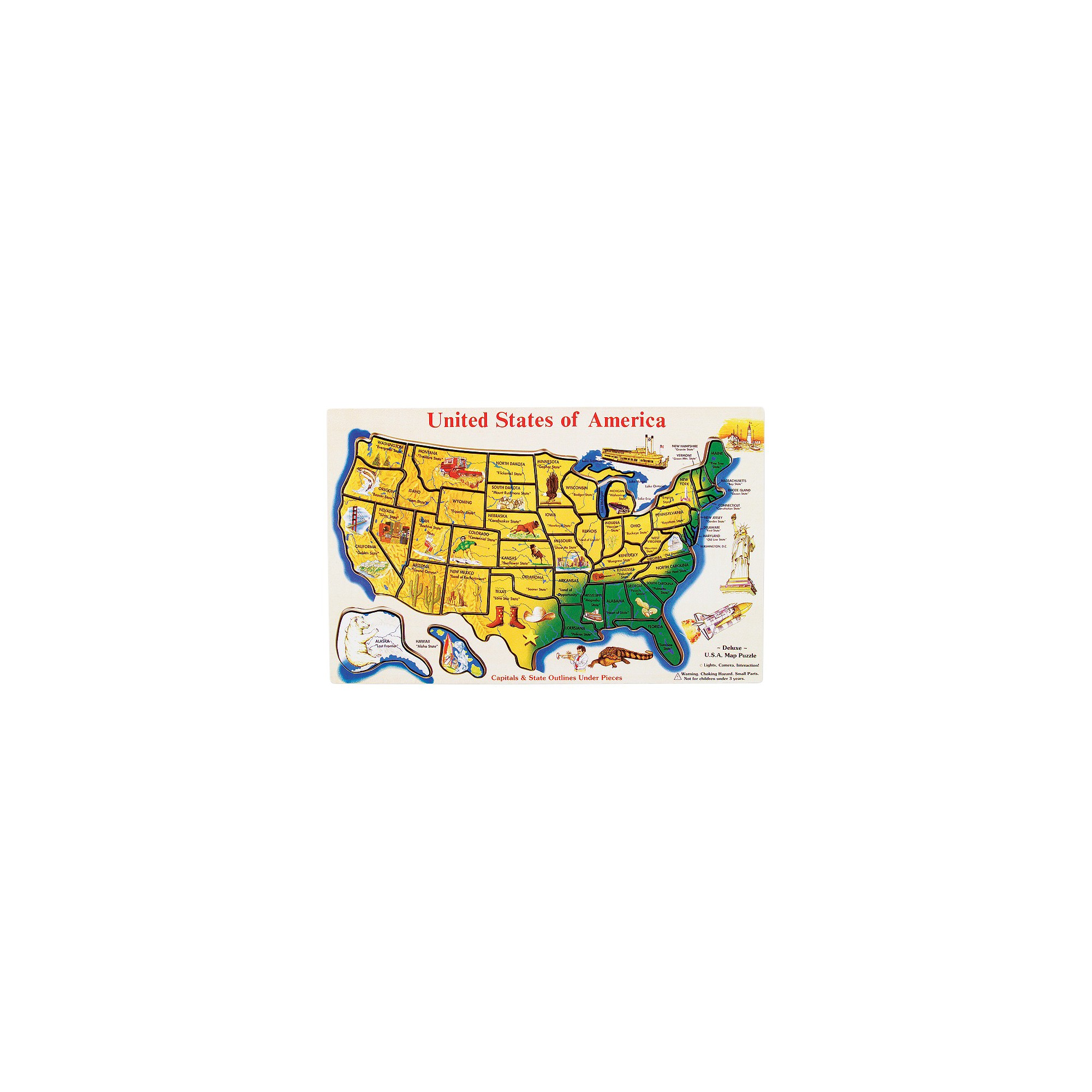 Melissa & Doug USA Map 45pc Wood Puzzle | Products