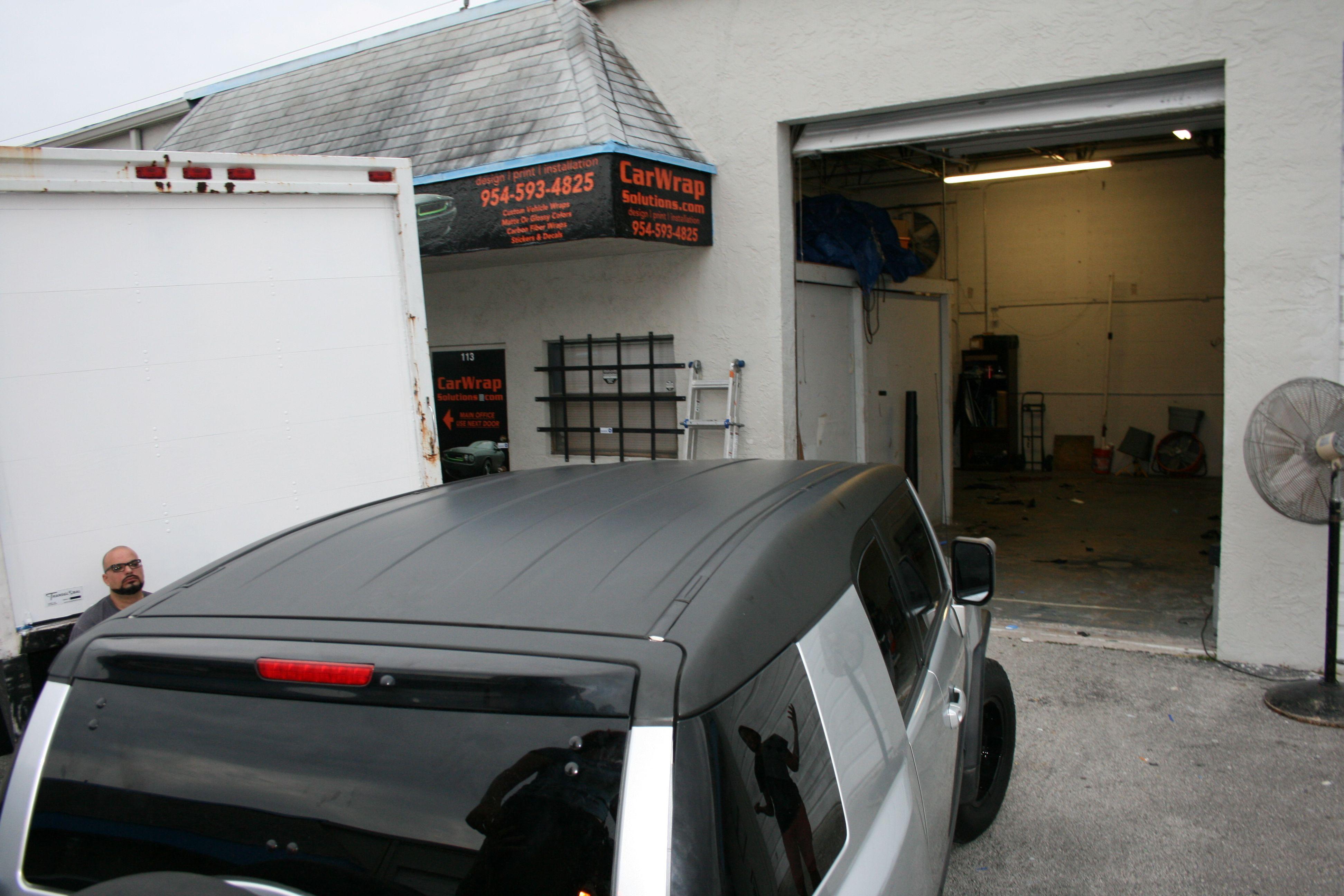 Toyota Fj Cruiser Matte Black Vinyl Wrapped Roof Wrap Fort