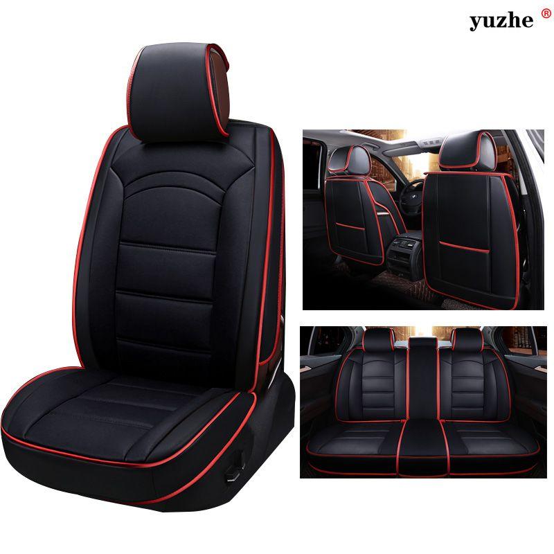 Yuzhe Leather Universal Car Seat Covers For Kia Soul Cerato Sportage Optima Rio Sorentok3k4k5 Sorento Ceed Acce Leather Car Seat Covers Leather Car Accessories