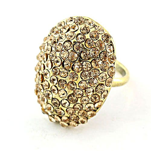 Luxury Vintage Pave Rhinestone Dome Cocktail Ring