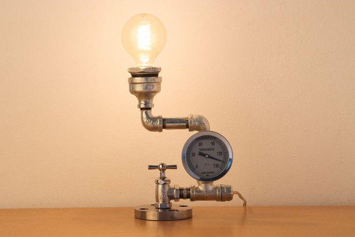 Lampade Rustiche In Rame : Esempi di lampade steampunk e in stile industriale lampade