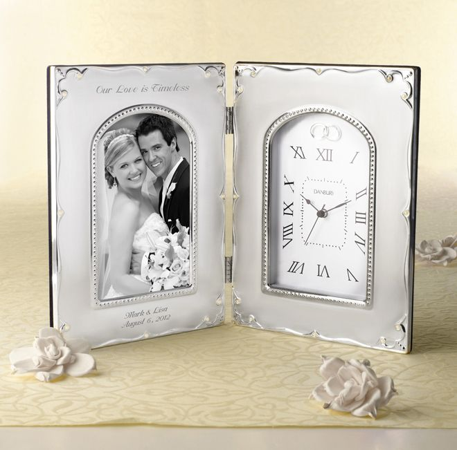 eecb5b59d5f7 4×6 Forever Yours Frame Clock from Things Remembered. From the The Gift  Guide  Gifts For Your Wedding Party blog post ...