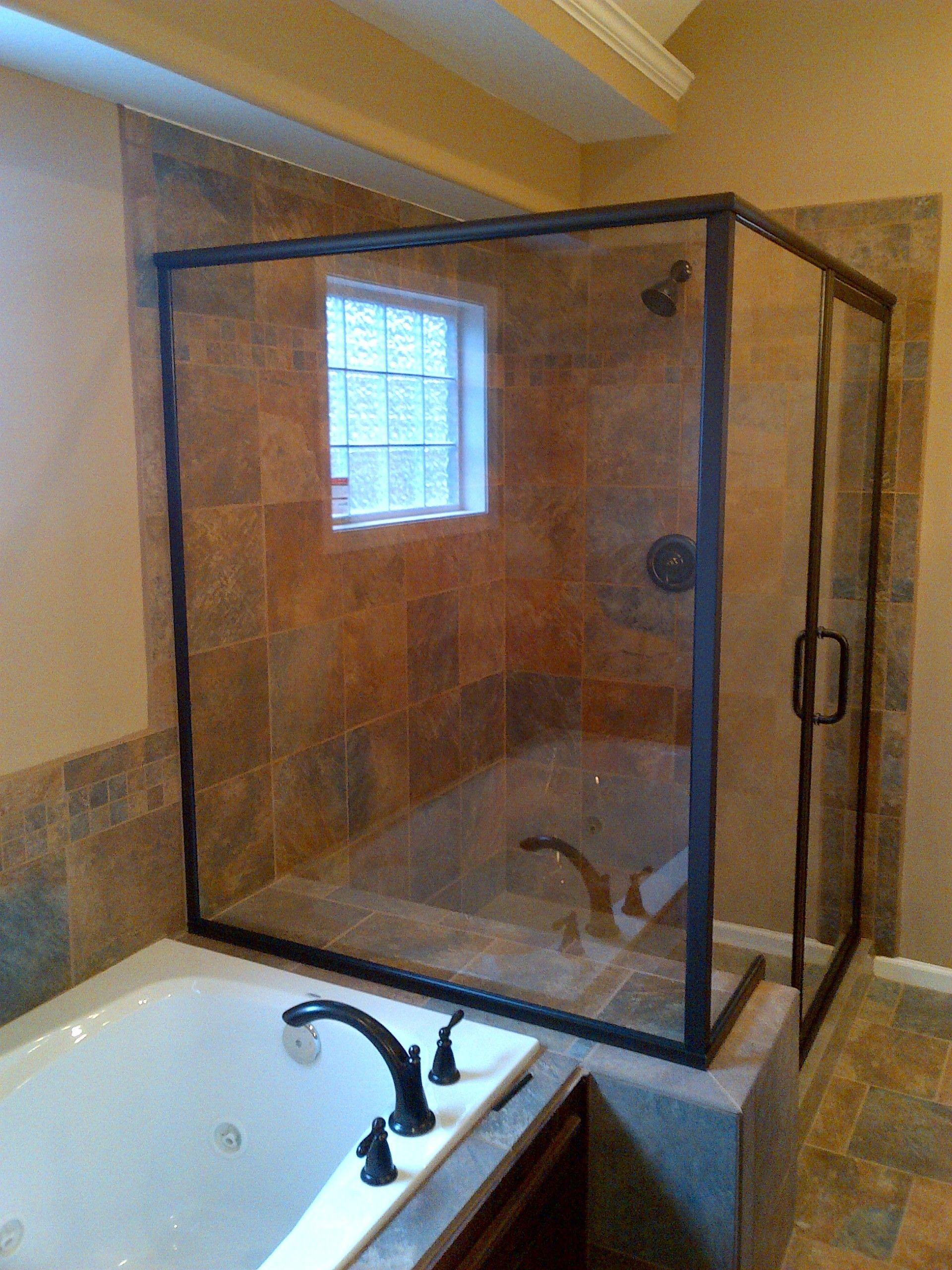 glass shower doors kansas city framed and frameless glass