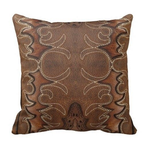 """Surprised South Western Style Leather Look And Studs Throw Pillow Case (Size: 20"""" by 20"""") Free Shipping $16.99"""