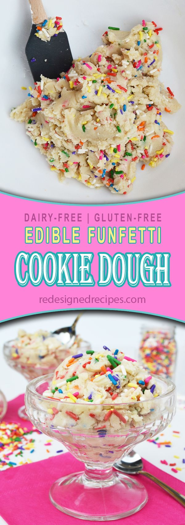 Edible Funfetti Cookie Dough - Redesigned Recipes