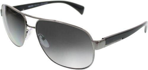 24d1b975f1 Prada PR52PS Sunglasses-5AV 5W1 Gunmetal (Polarized Gray Gradient Lens)-61mm