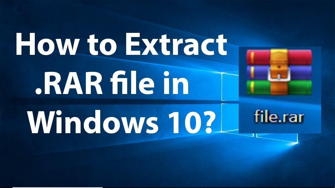 rar windows 10