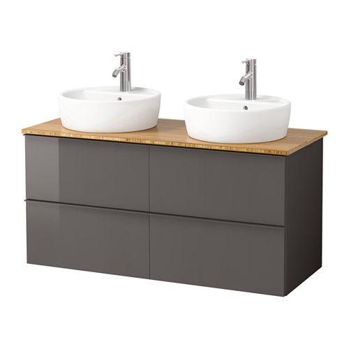 GODMORGON/ALDERN / TÖRNVIKEN Meuble lavabo av lavabo à poser 45