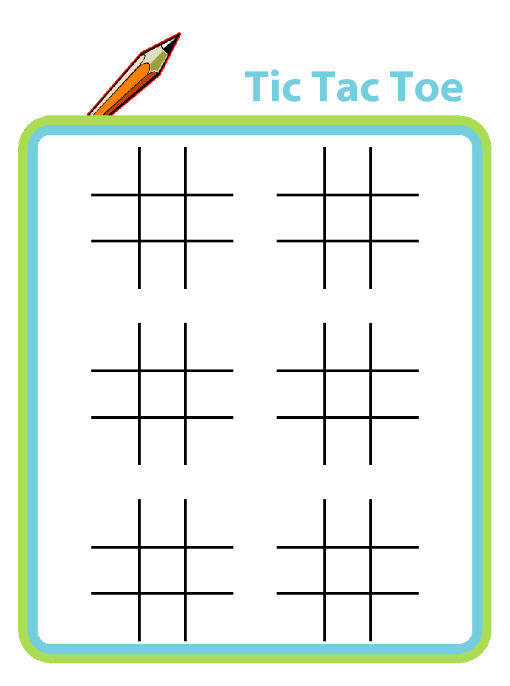 tic tac toe plus lots of other printable activities for kids
