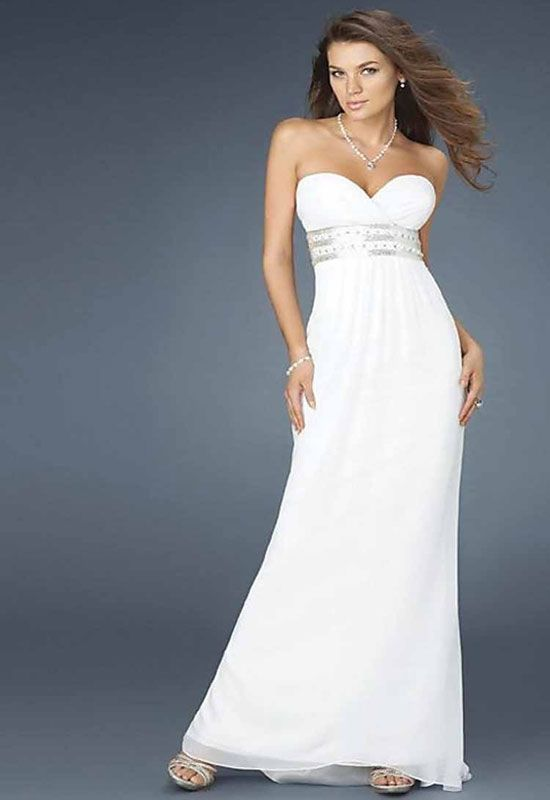 Simple elegant white dress | Elegant White Dresses | Pinterest ...