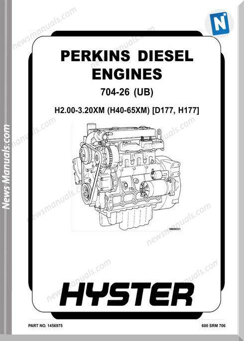 Perkins 704-26 (Ub) (2.6L) Engine Repair Manual (With