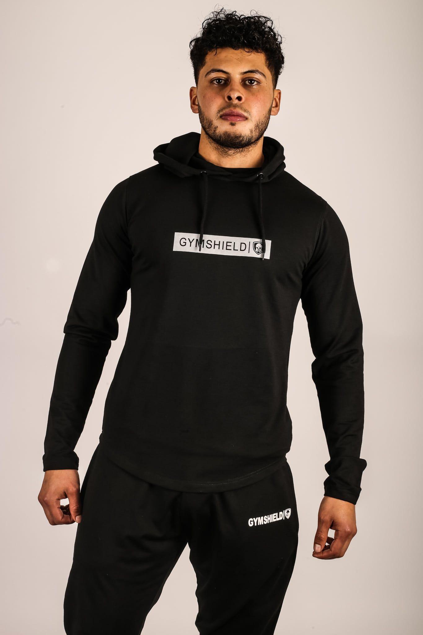 Lightweight Pullover Hoodie Black Gymshield We Aim