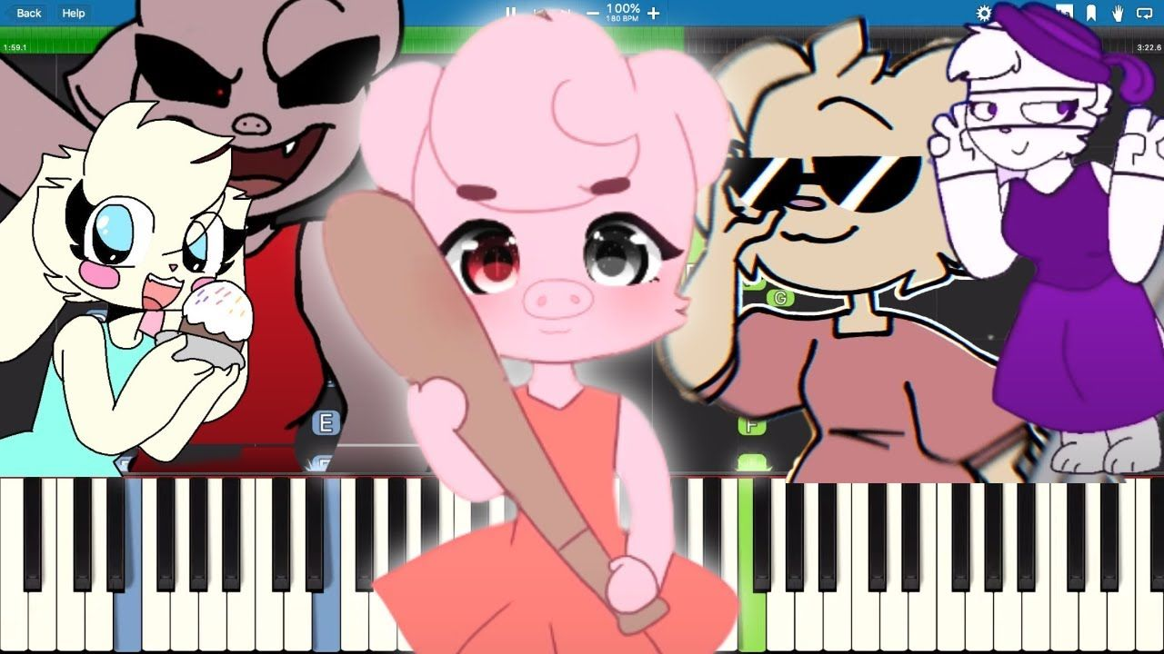 Piggy Memes On Piano Part 4 Roblox Tocando Piano Piano