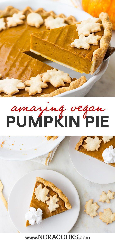 Vegan Pumpkin Pie Nora Cooks Vegan Pumpkin Pie Recipe Vegan Pumpkin Pie Vegan Christmas Recipes