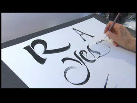 Calligraphy alphabet n z calligraphy tips holding flat brushes