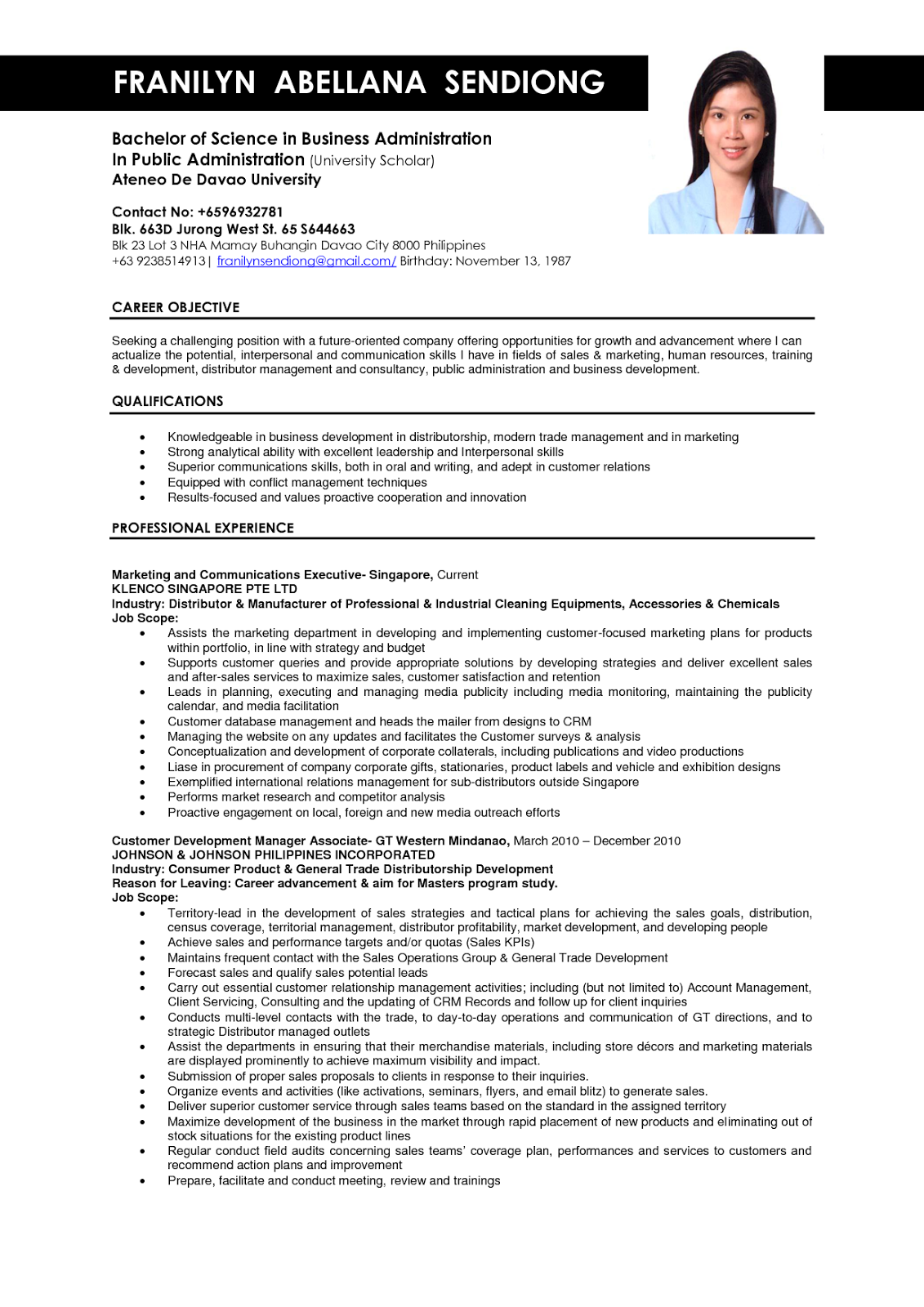 examples of business administrator resumes