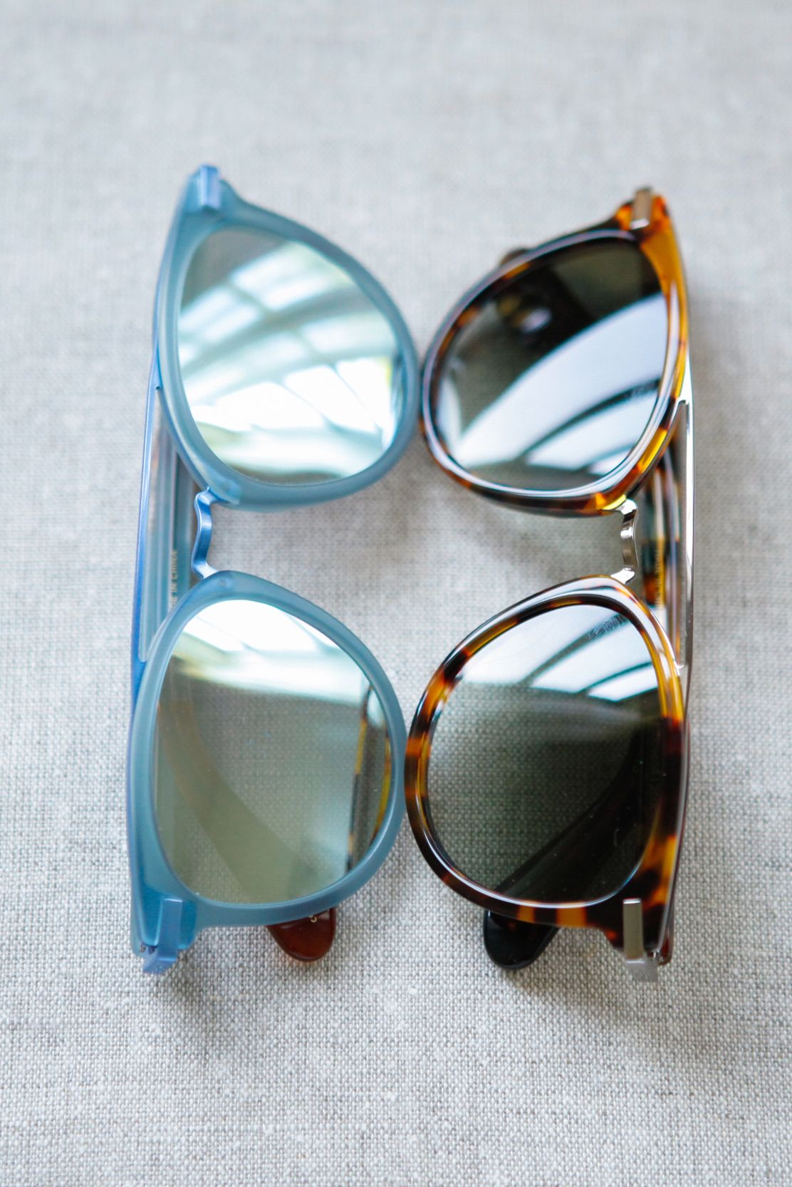 Go retro in TOMS Harlan Sunglasses. These vintage-inspired sunnies come in  powder blue or tortoise shell.