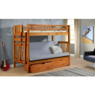 Brazilian Twin Futon Ladder Honey Bunk Bed Availability In Stock Our Low Price 749 99 Free Shipping