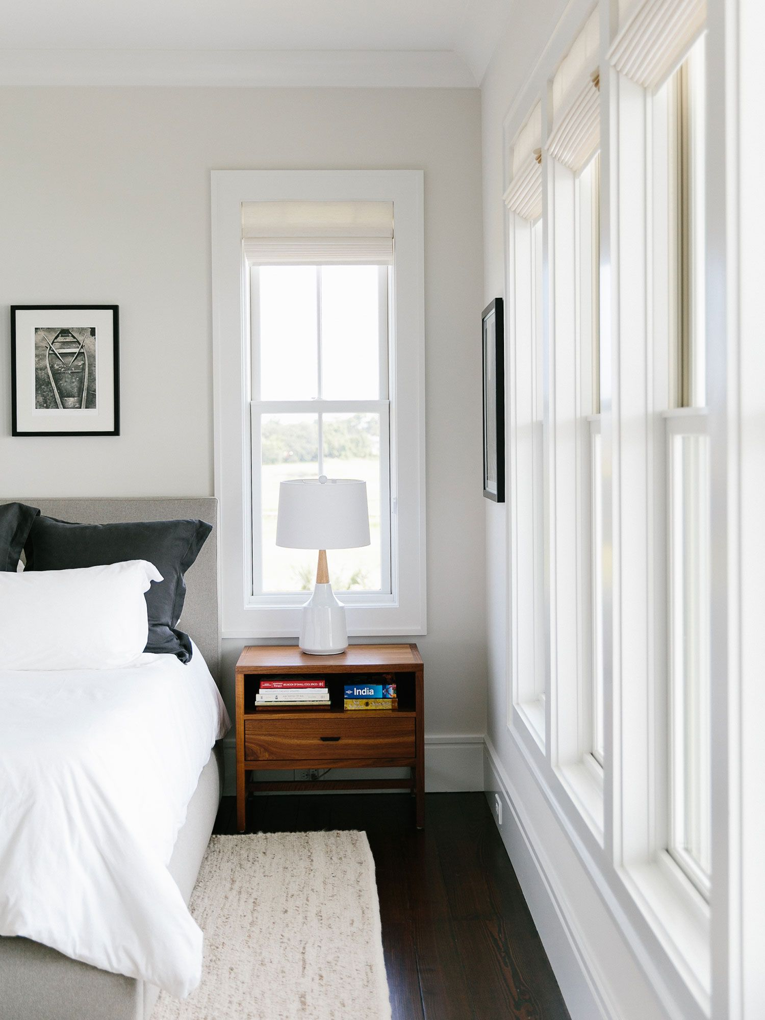 A New Construction With Historical Charm In Charleston Rue White Wall Bedroom Bedroom Paint Design White Walls