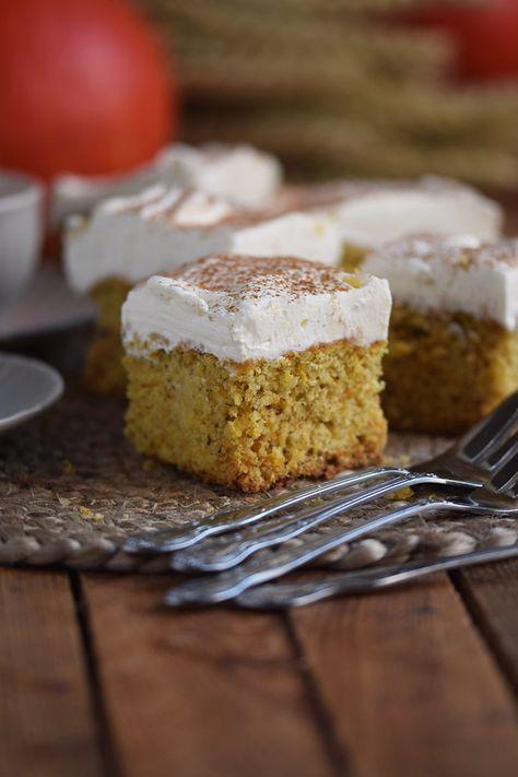 Kurbiskuchen Fluffiger Herbstkuchen Vom Blech Recipe Backen