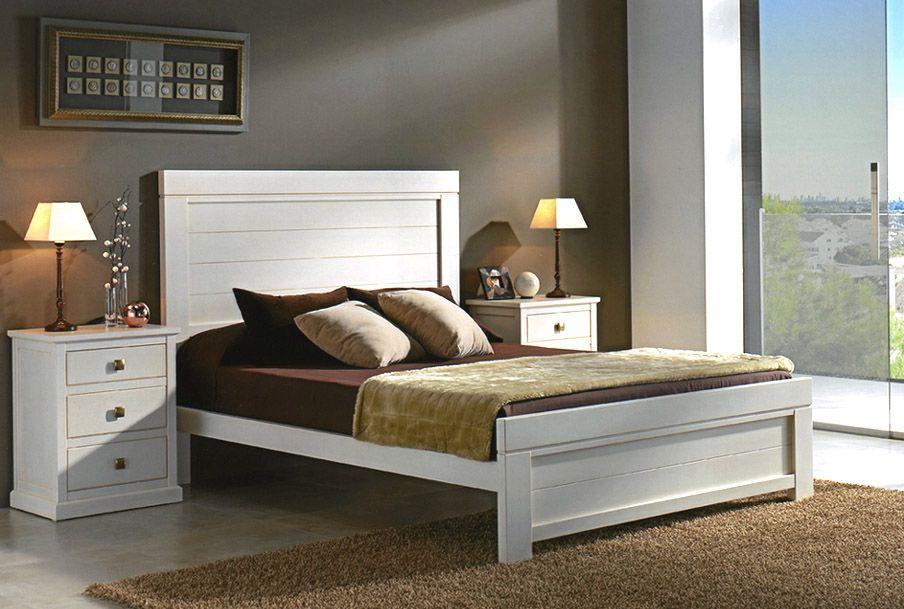 Dormitorio de matrimonio con cama con piecero - haya | Dormitorio de ...