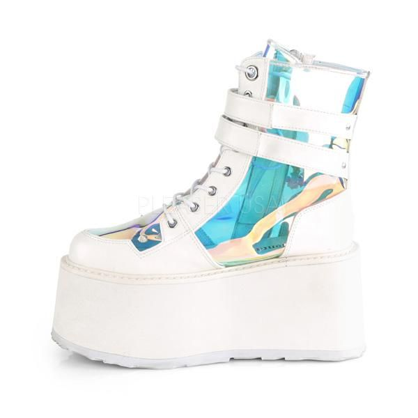 5bb912966 Damned 115 White Platform Charm Ankle Boot in 2019 | Demonia ...
