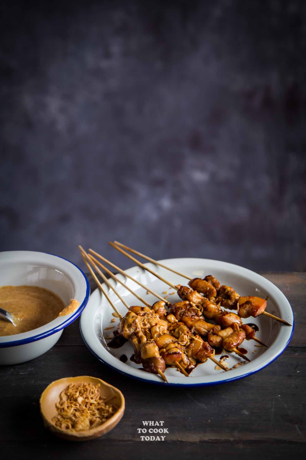 Sate Ayam Bumbu Kacang Chicken Satay With Peanut Sauce Sate Ayam Asian Food Appetizers Chicken Satay