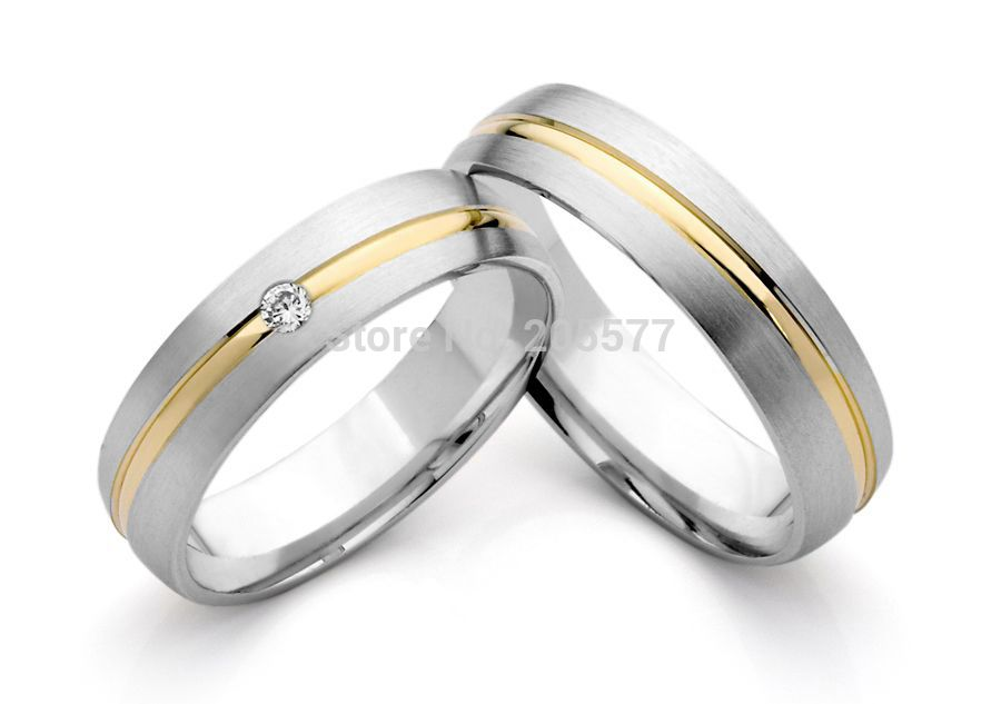 Hot Selling Custom Gold Plating Inlay White Gold Color And White