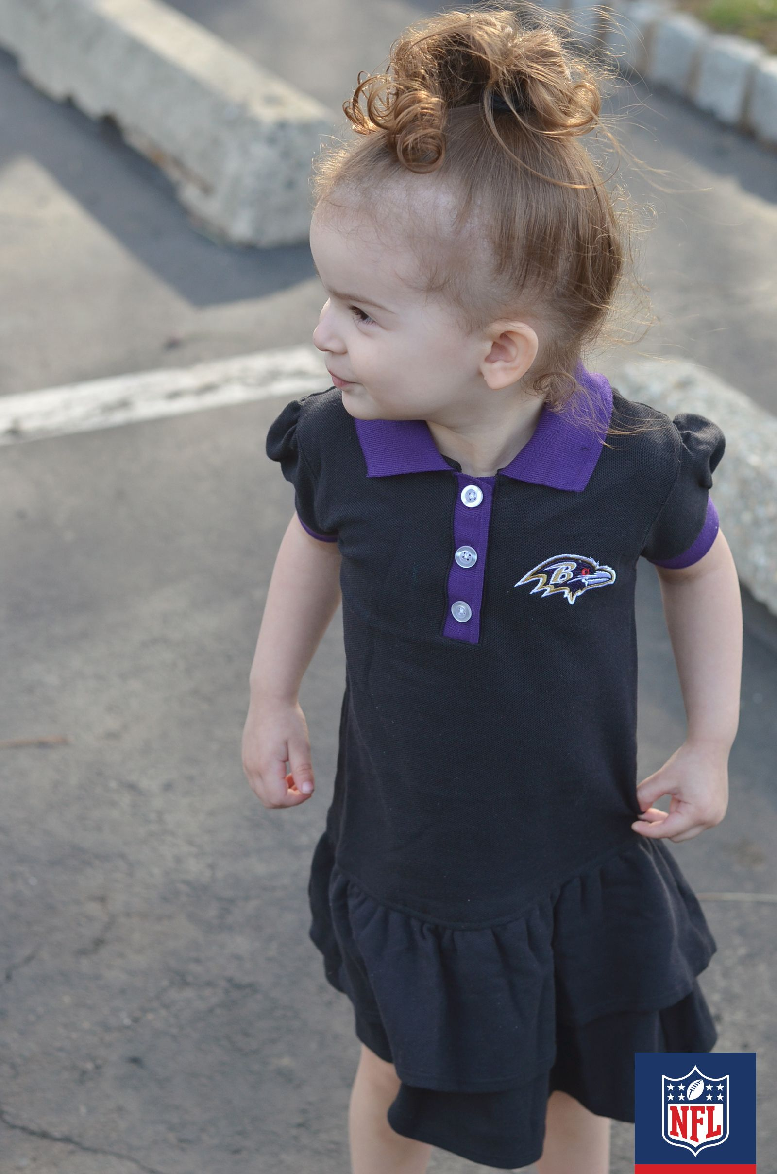 e2100b0b This Baltimore Ravens dress can be worn for play dates or game days ...