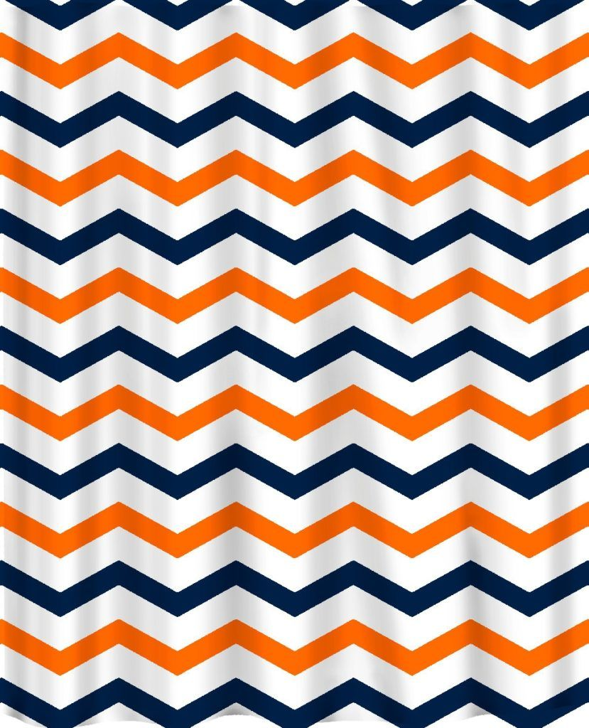 Auburn University Chevron Shower Curtain Auburn Custom Color