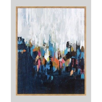 24 X30 Abstract Framed Wall Canvas Project 62 Target Framed Wall Canvas Wall Canvas Abstract Canvas Art