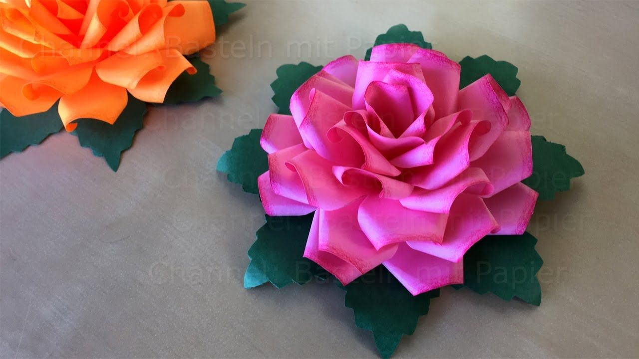 How To Make A Paper Rose Origami Rose Papier Flower Learn