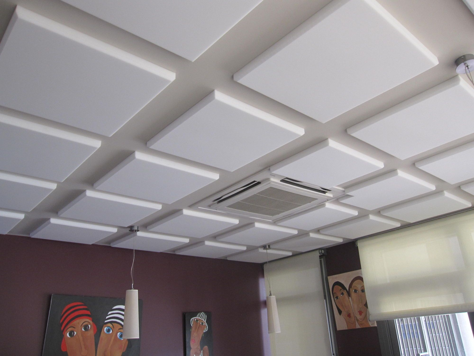 Alluring drop ceiling tile panels idea in white color with square alluring drop ceiling tile panels idea in white color with square shaped tiles and beige ceiling doublecrazyfo Gallery