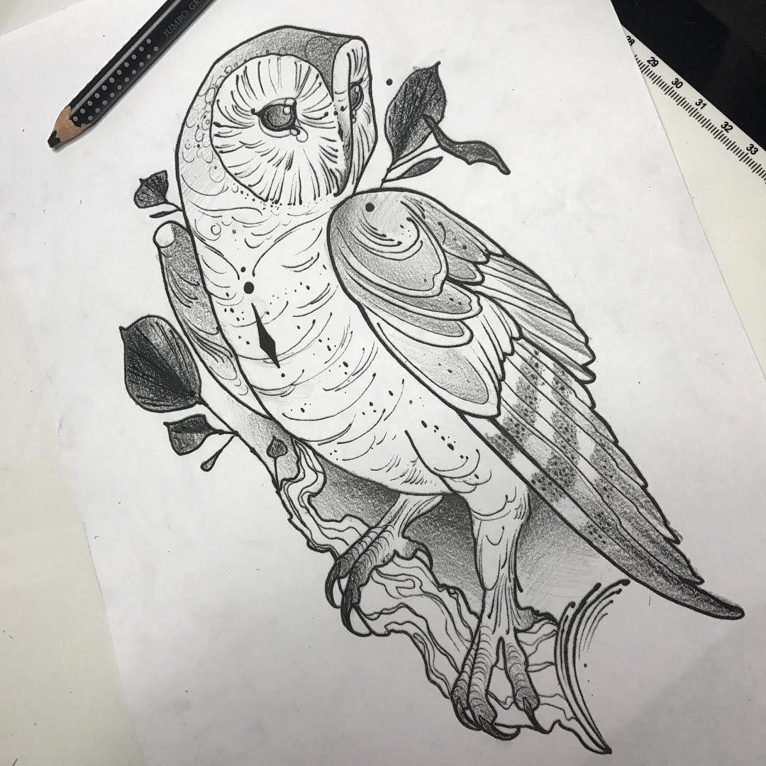 Barn Owl Customdesign Customflash Tattoodesign Barnowl Blacktattoo Blackwork Budapesttattoo Oneofa Barn Owl Tattoo Traditional Owl Tattoos Barn Owl