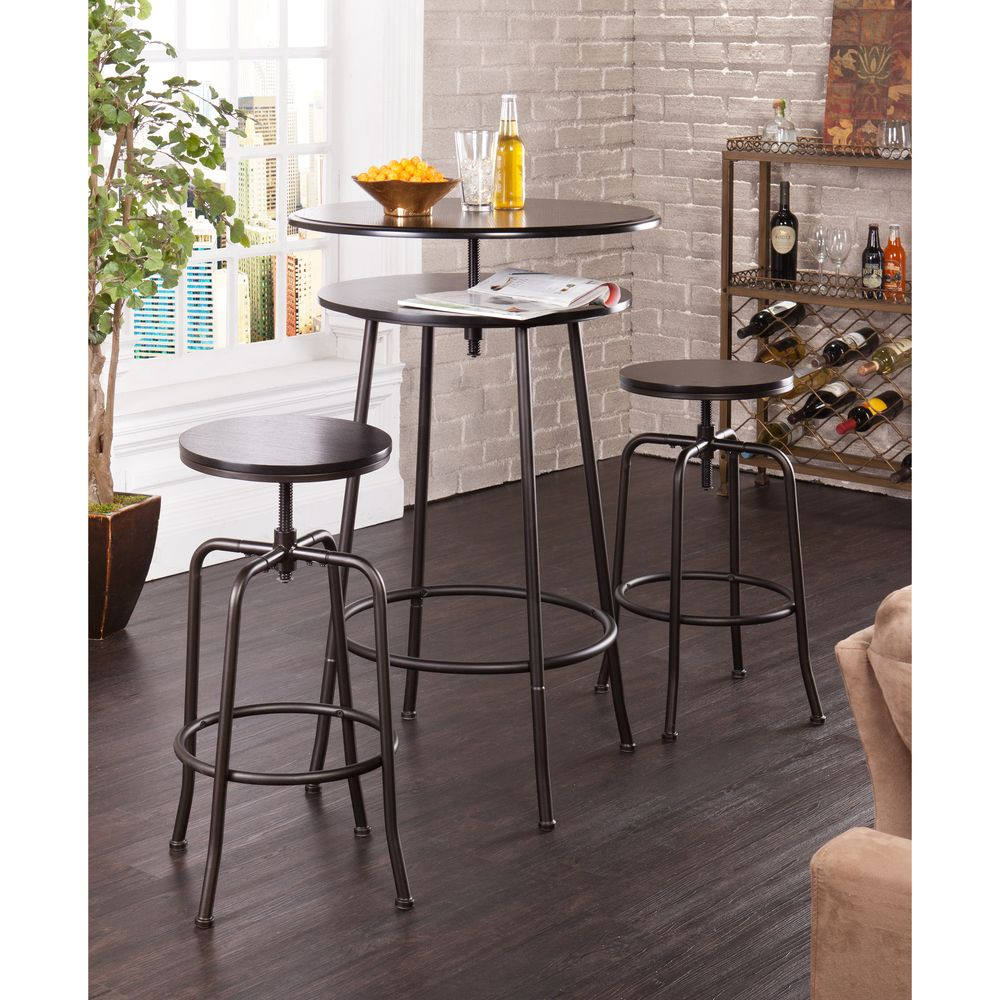 Holly U0026 Martin Kalomar 3 Piece Adjustable Pub Table And Stools |  Overstock.com