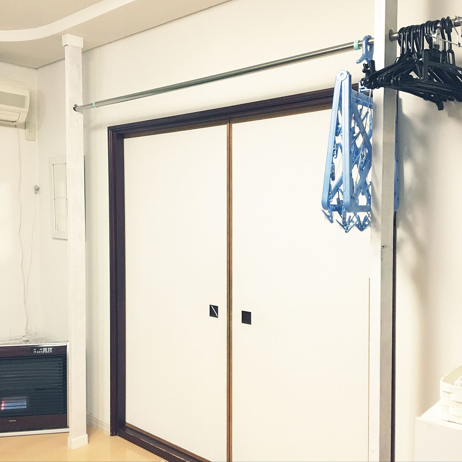 壁 天井 2 4 室内干しスペース ディアウォール 洗濯物干し などの