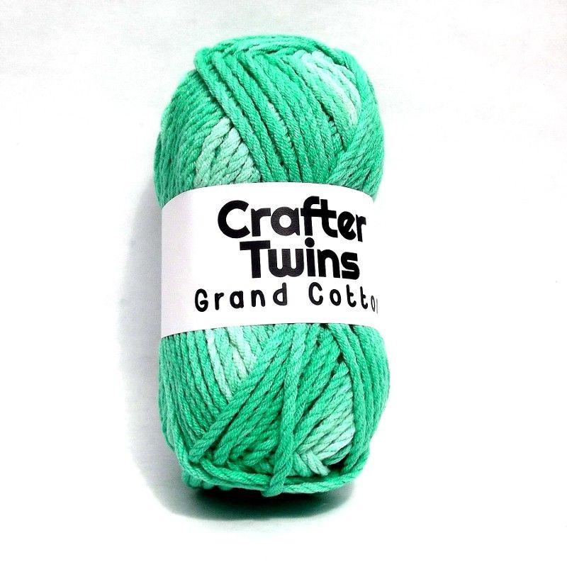Crafter Twins Grand Cotton yarn in green   Yarn   Pinterest   Verde