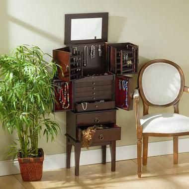 Cherry Jewelry Armoire - SkyMall
